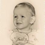 Com um ano de idade